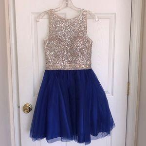 Short Blue Dress by Morilee by Madeline Gardener